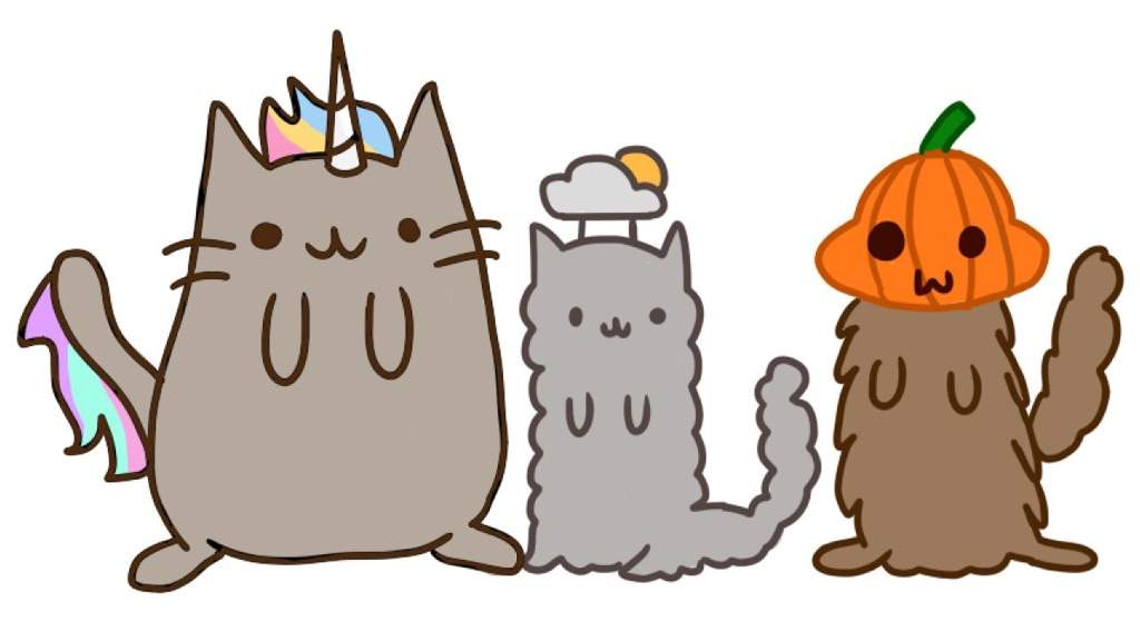 stormy pip and pushee celebrating halloween pusheen the cat amino amino