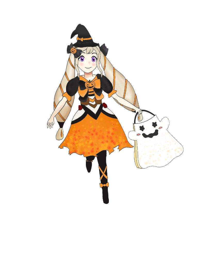 i finished coloring my picture of halloween elise do you guys