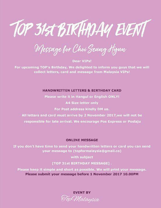 Birthday Messages Compilation Project For Tops Upcoming Birthday