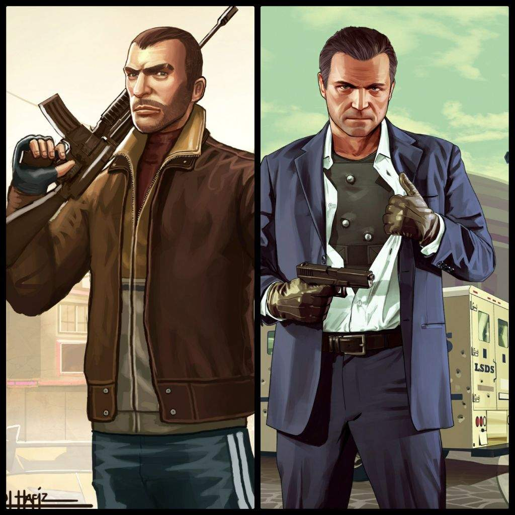 Michael De Santa Vs Niko Bellic Gta 5 Vs Gta 4 Vs