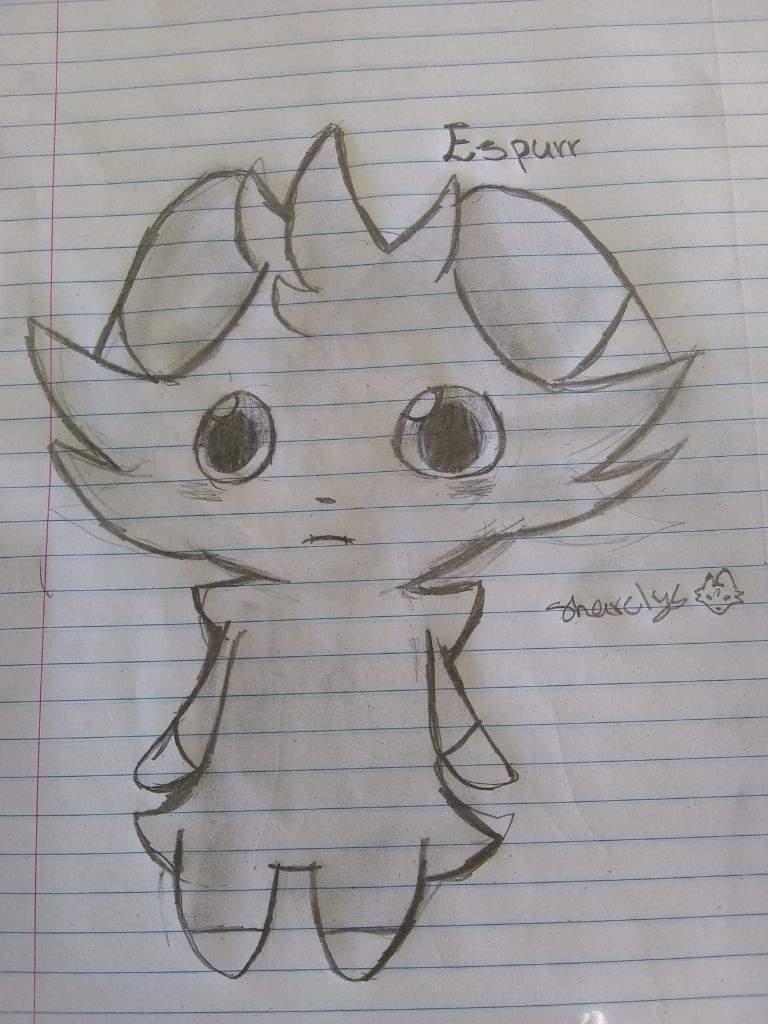 Espurr Doodle Pokémon Amino
