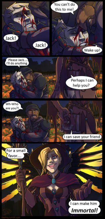 I like this halloween comic 😃😃😃 | Overwatch Amino
