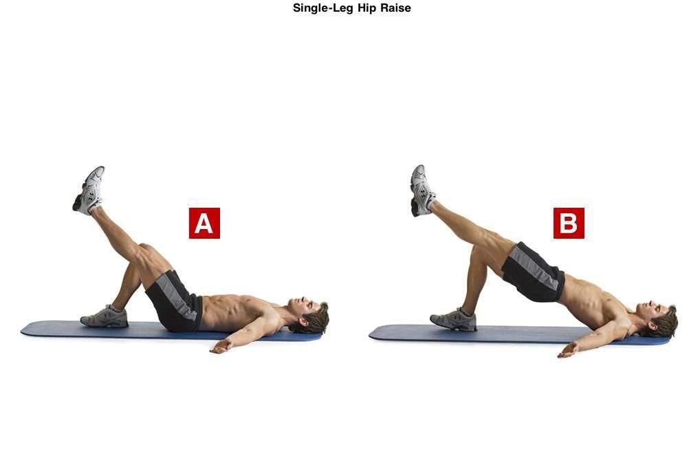 Image result for Single Leg Hip Raise