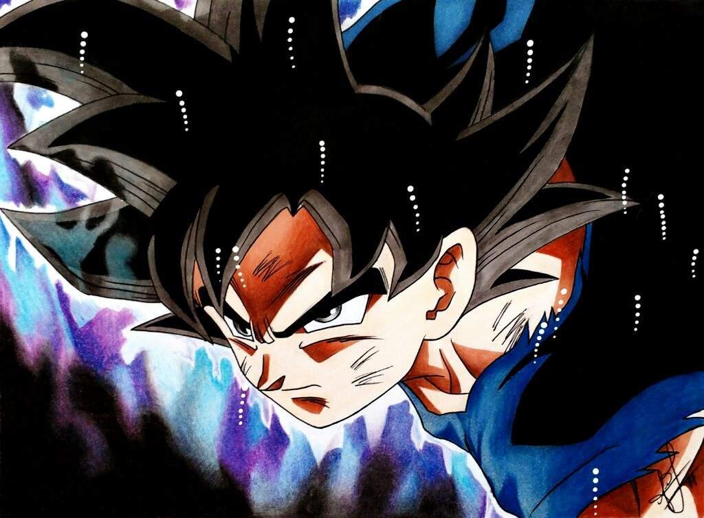"""Dibujo De Goku Ultra Instinto: Goku Ultra Instinto """"Migatte No Gokui"""""""