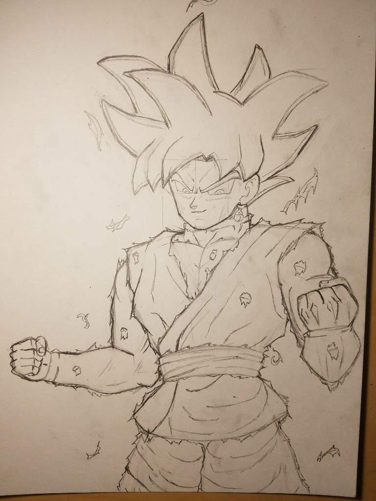 Goku black ultra instinct dragonballz amino - Goku ultra instinct sketch ...