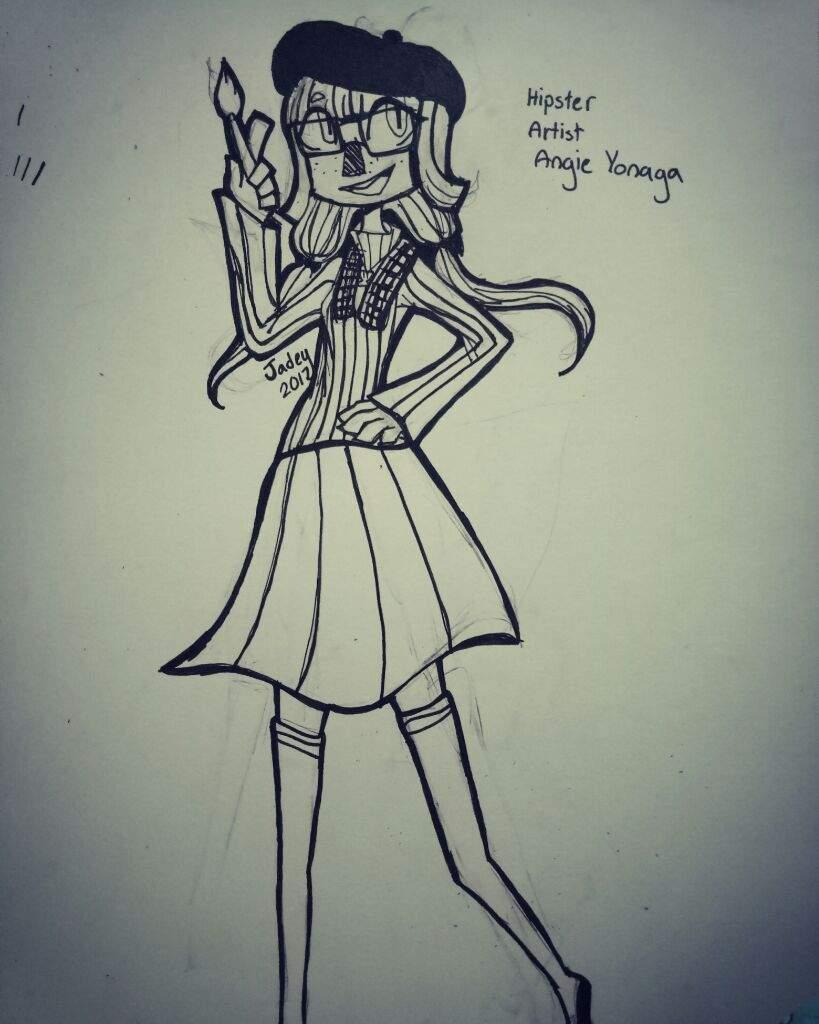 hipster artist angie danganronpa amino