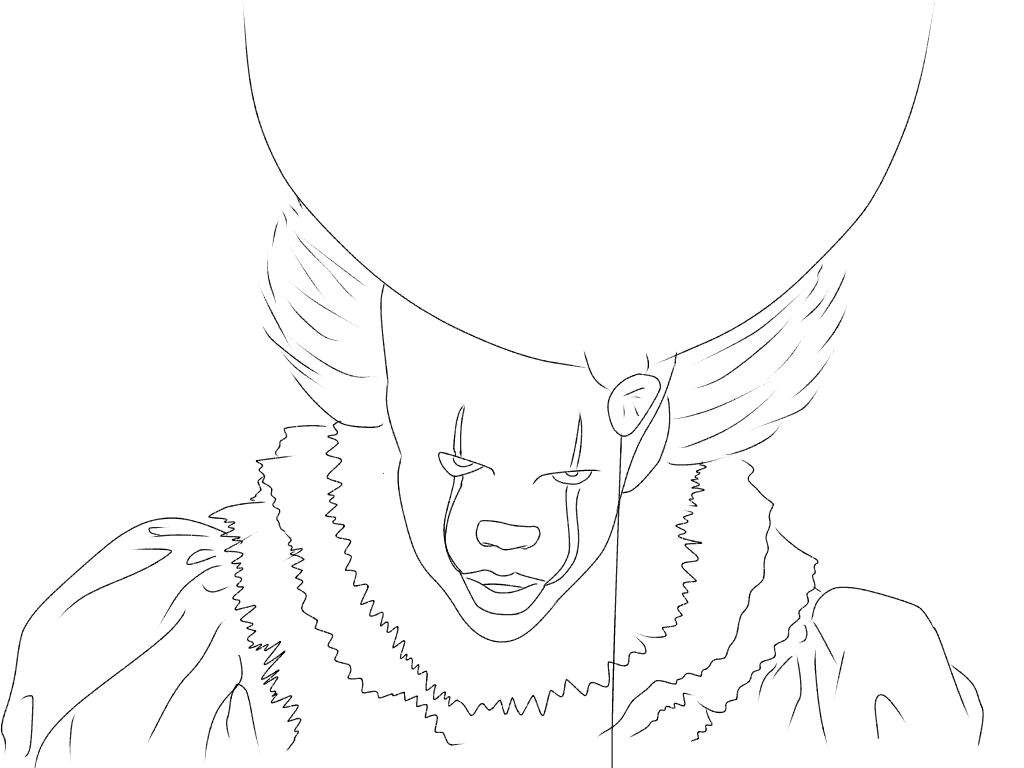 Pennywise Coloring Page Ref Art Amino