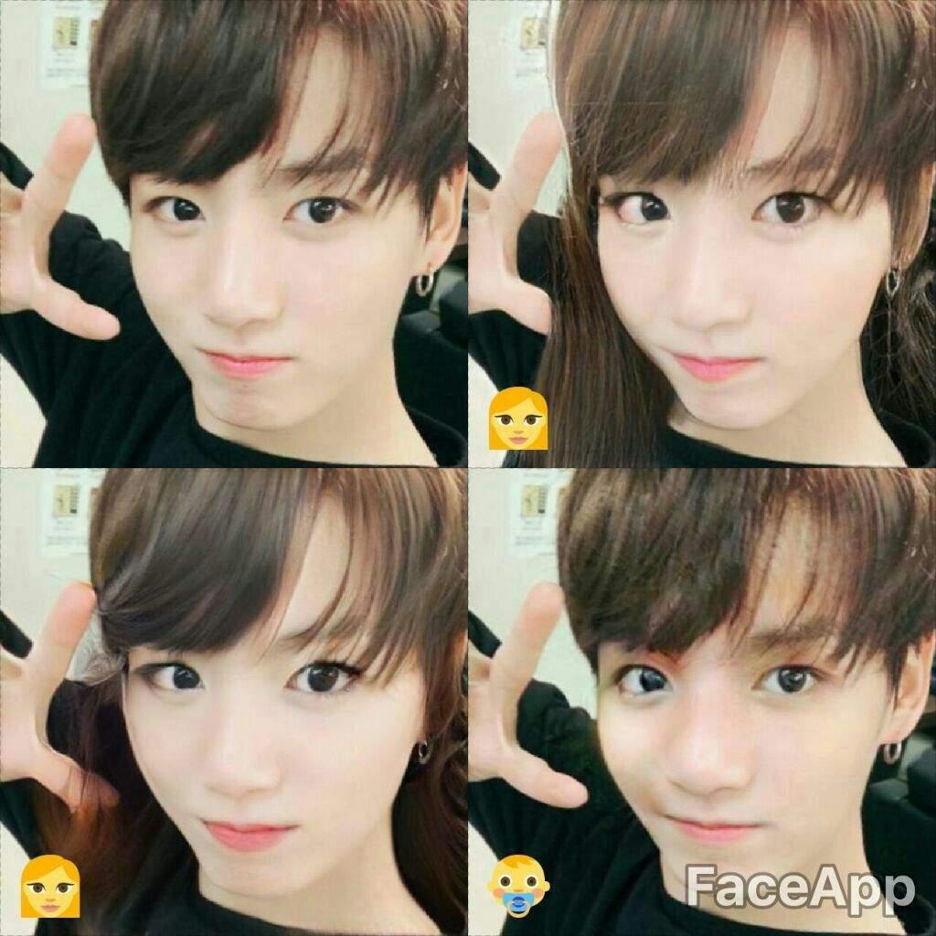 BTS FaceApp Gender swap | ARMY's Amino