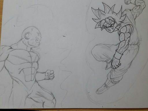 how to draw goku instinct