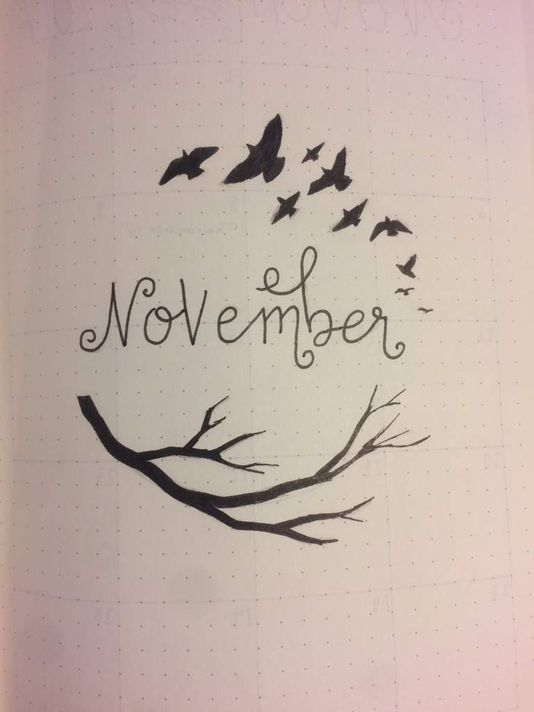 november bullet journal bullet journal amino