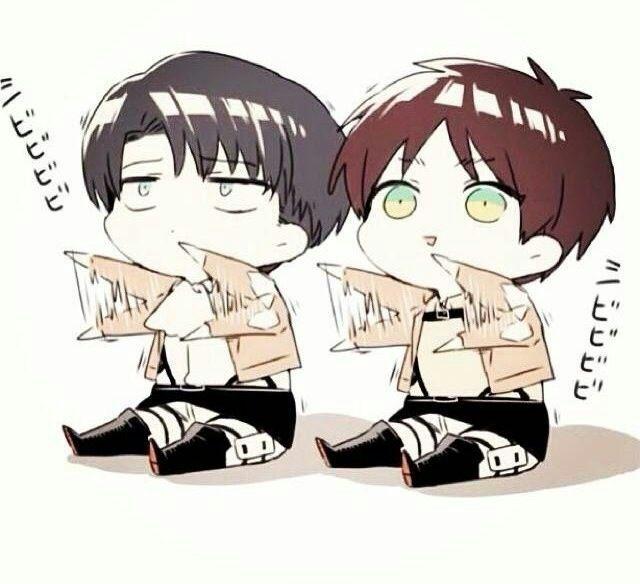 Eren & Levi Chibi Halloween Fanart! 🎃 | Anime Amino