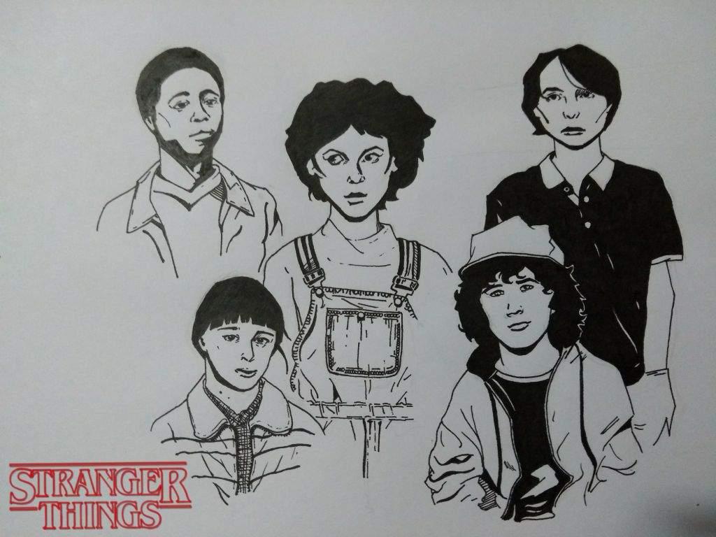 Dibujo Del Elenco Juvenil De Stranger Things Stranger Things Aмιησ