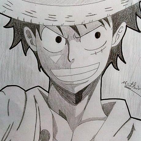 Desenho Do Luffy Estilo Preto E Branco One Piece Brasil Amino