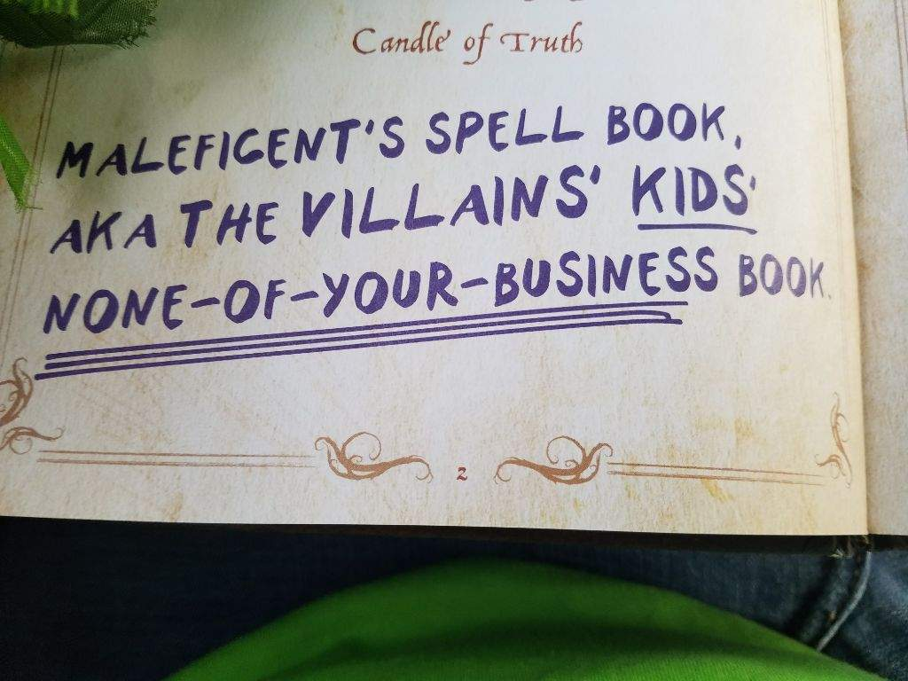 Descendants Mal Spellbook — BCMA