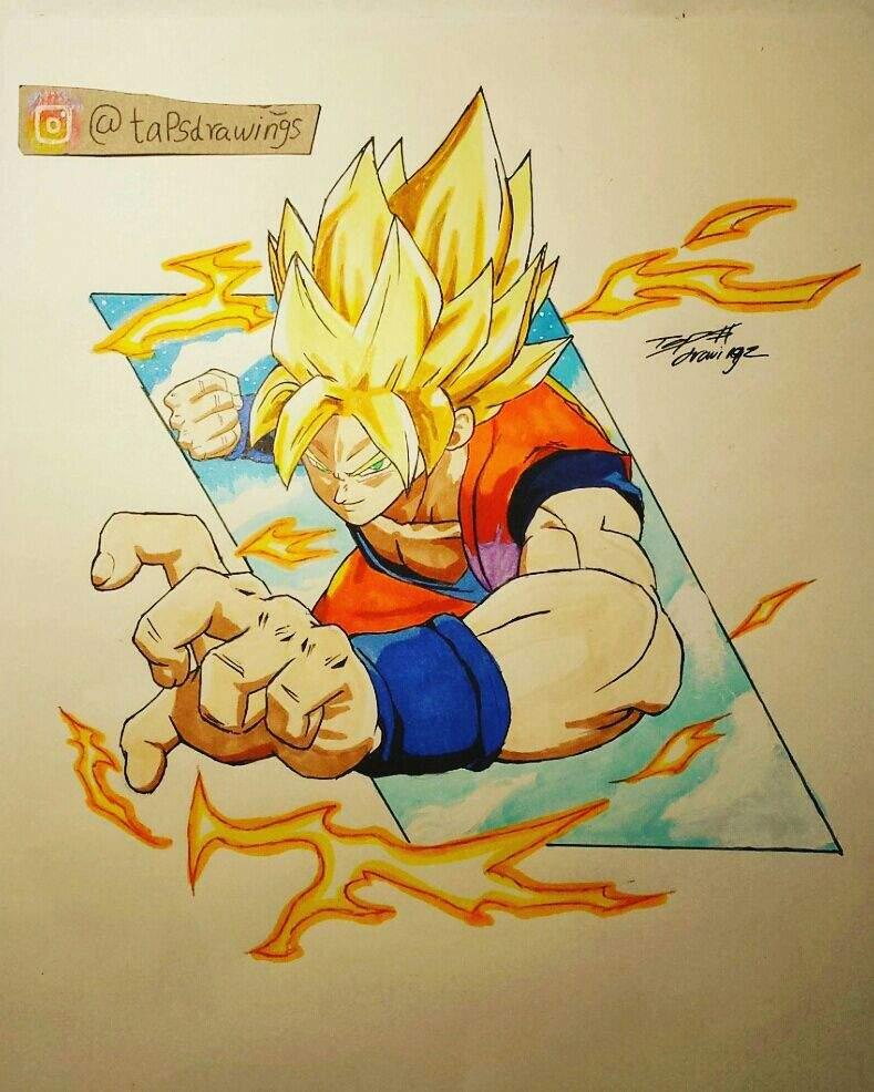 Goku Super Saiyan Dragon Ball Fighters Z Drawing