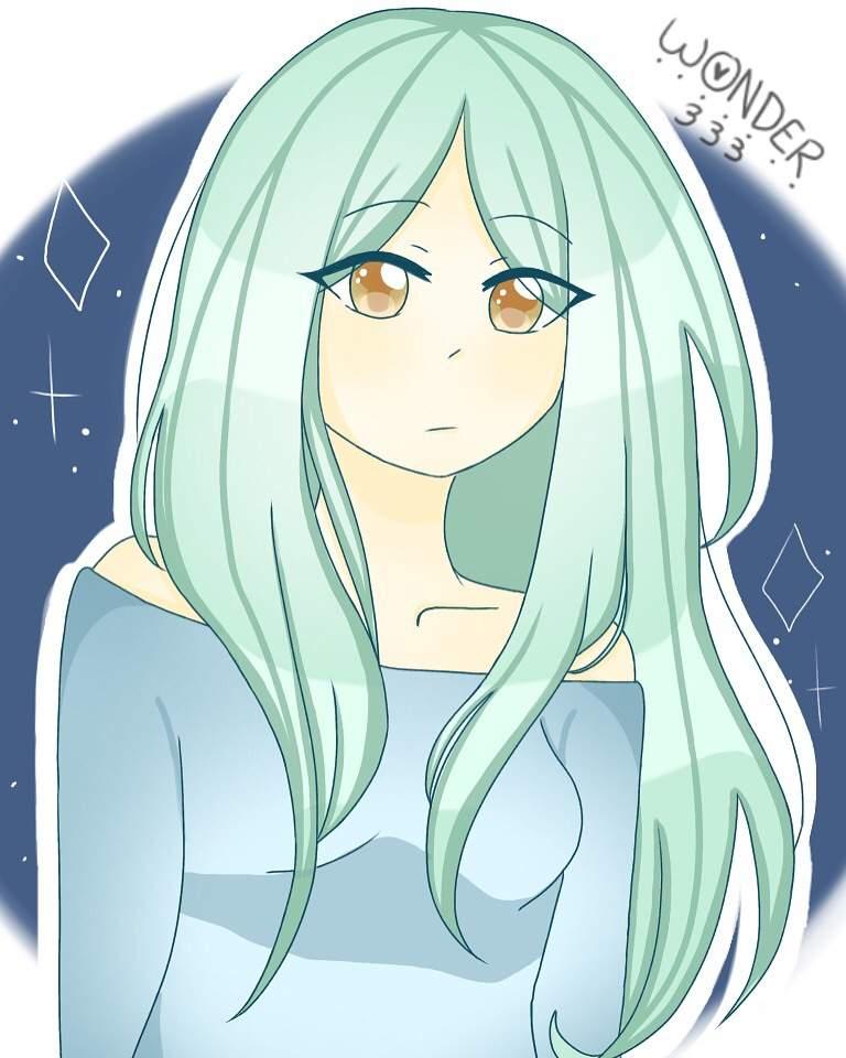 Mint Haired Girl P Animearts Amino