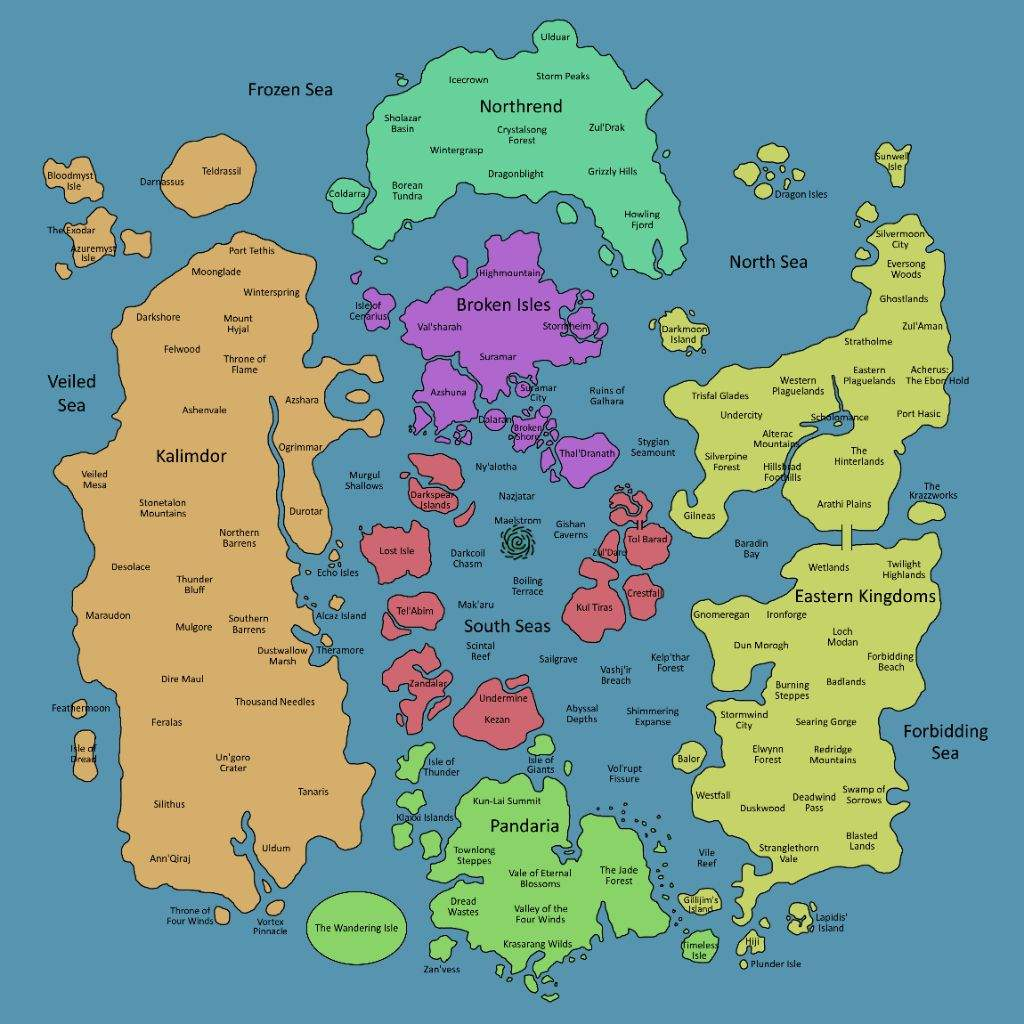 My thoughtsfuture of wow wow amino mmo championthreads2052335 map of a potentially crowded azeroth gumiabroncs Choice Image