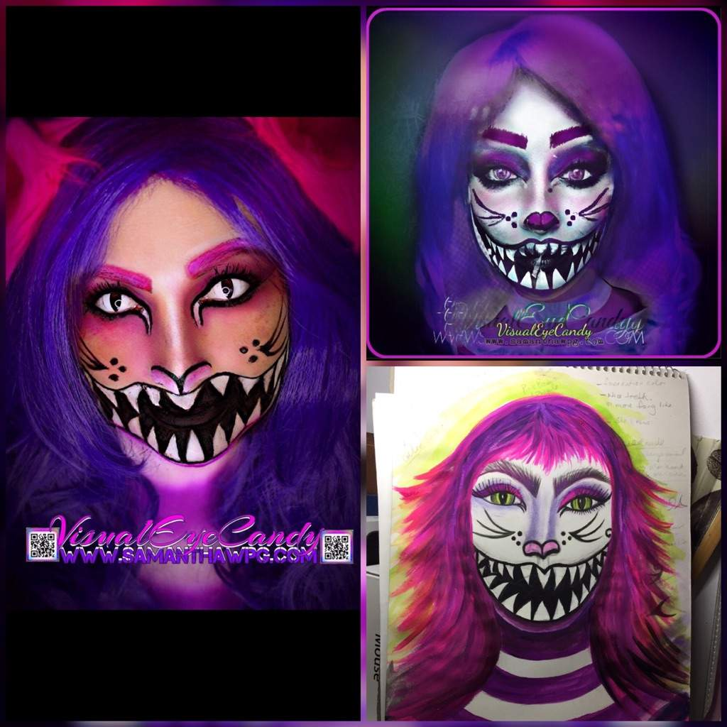 Alice In Wonderland Cheshire Cat Makeup By Visualeyecandy Cosplay
