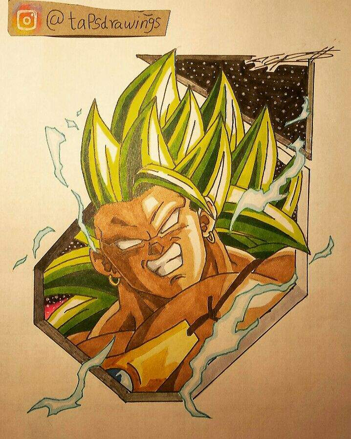 Broly Legendary Super Saiyan 3 Drawing