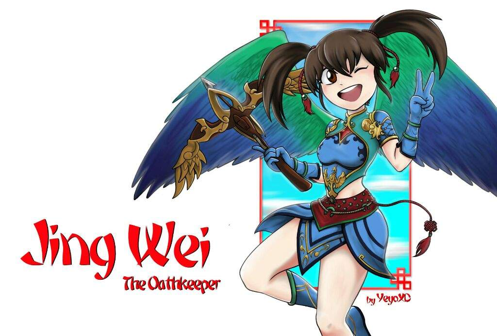 Hello Boys And Girls Today I Bring To You This Fanart Of A Characther From MOBA Game Called Smite She Is Jing Wei Chinese Goddess