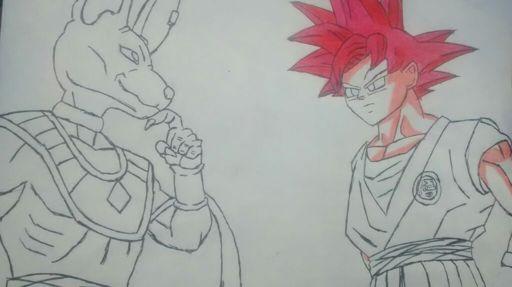 Mi Dibujo Goku Vs Bills Dragon Ball Español Amino