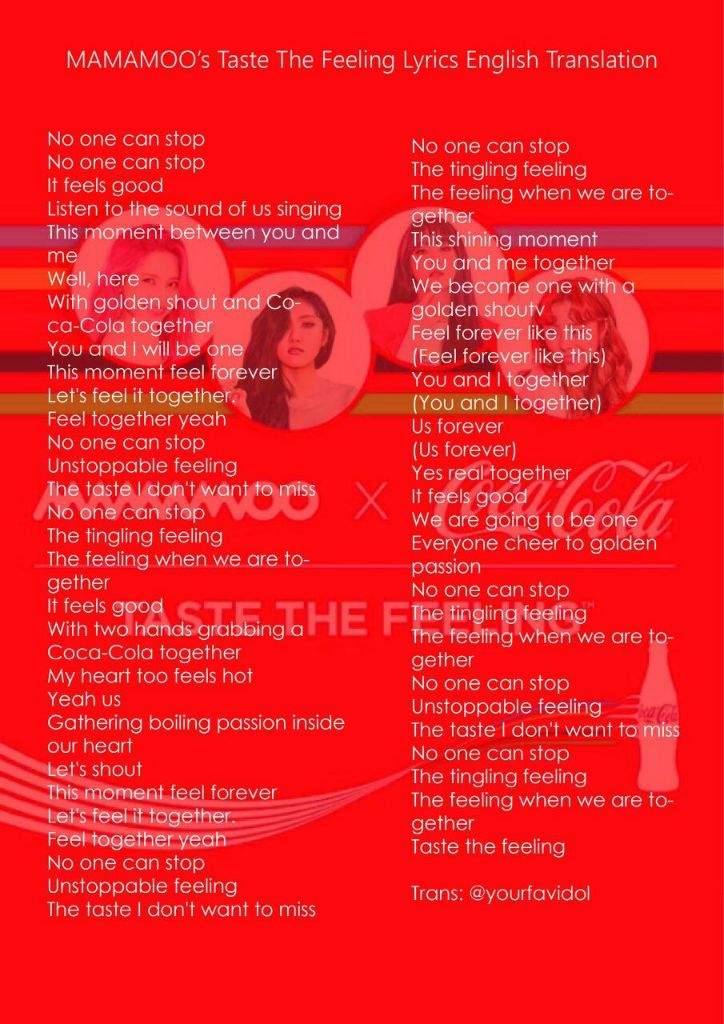 Taste the Feeling is Out! + Download Link + Lyrics