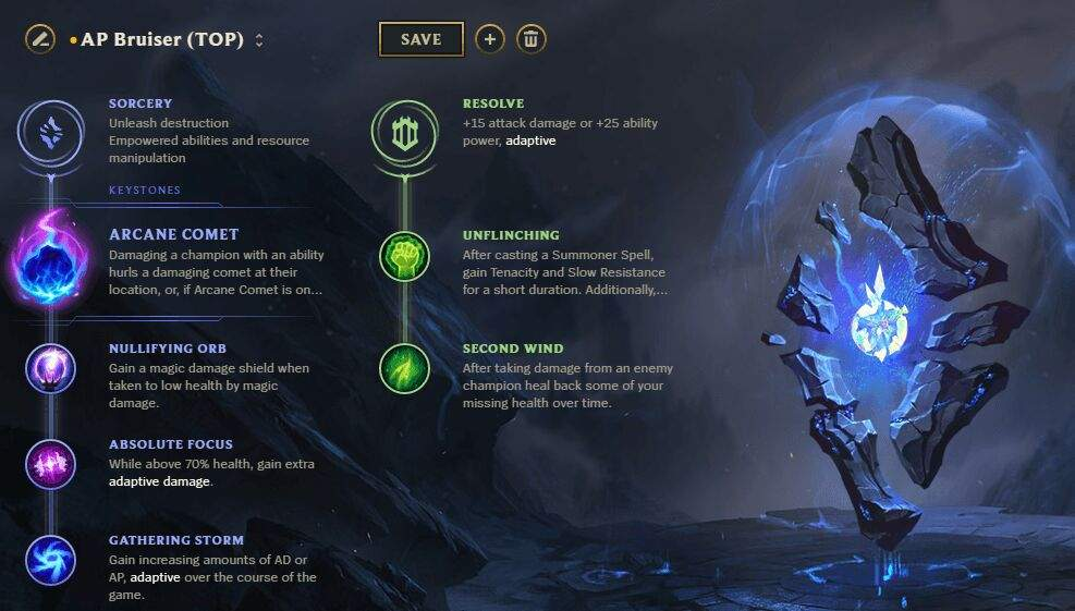 league adaptive damage