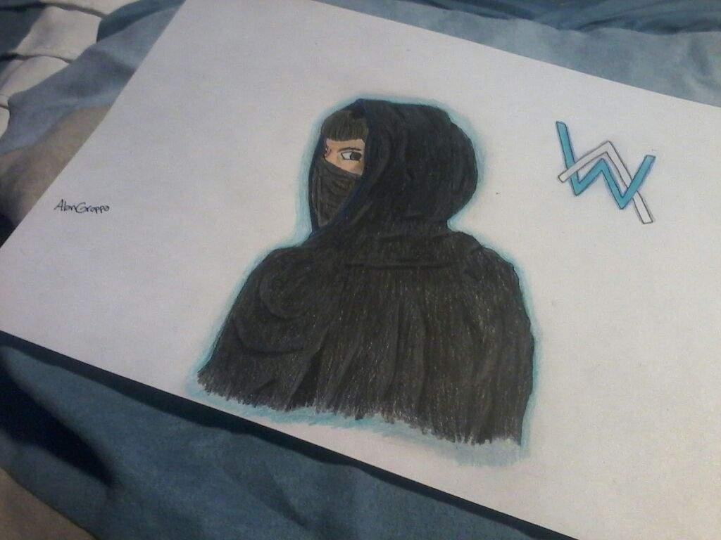 Mi dibujo inspirado en Alan Walker | •Arte Amino• Amino
