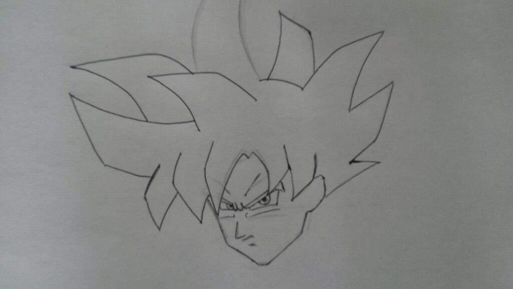 Goku Ultra Instinto Para Colorear