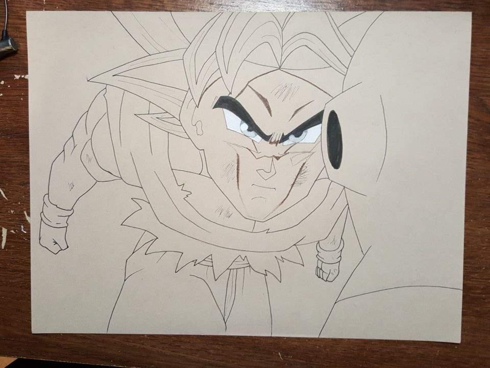 Ultra instinct goku vs jiren drawing dragonballz amino - Goku ultra instinct sketch ...
