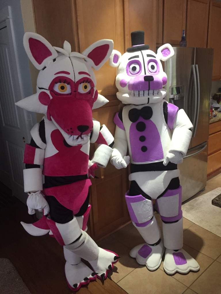 we were funtime foxy and funtime freddy i was foxy anyways here are the pictures you probably already saw from seeing the cover of this post