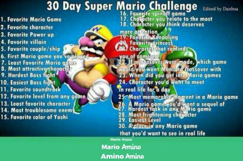 30 Day Mario Challenge Day 1 Favourite Game Mario Amino
