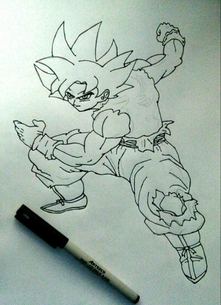 Fotos De Goku Ultra Instinto Para Colorear The Galleries Of Hd