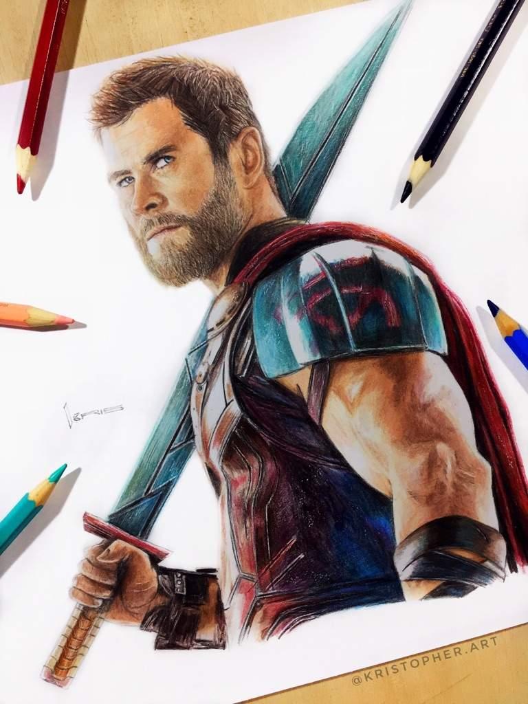 Mipropioarte Dibujo De Thor Ragnarok Dibujarte Amino