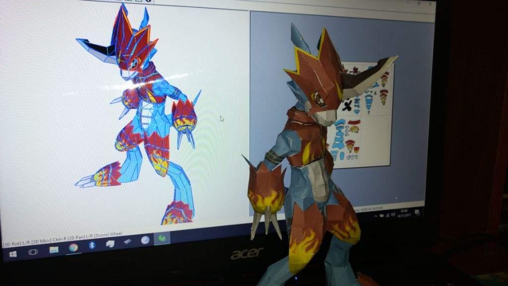 papercraft flamedramon fladramon dragons amino