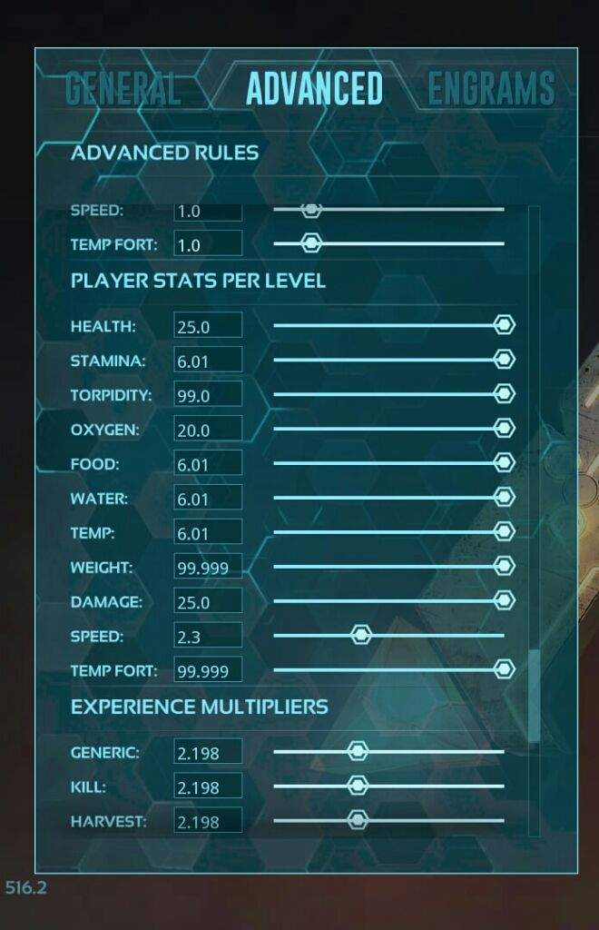 Ark non dedicated server change settings f