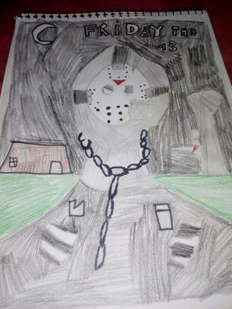 Jason Voorhees Em Desenho Minha Versao Friday The 13th The