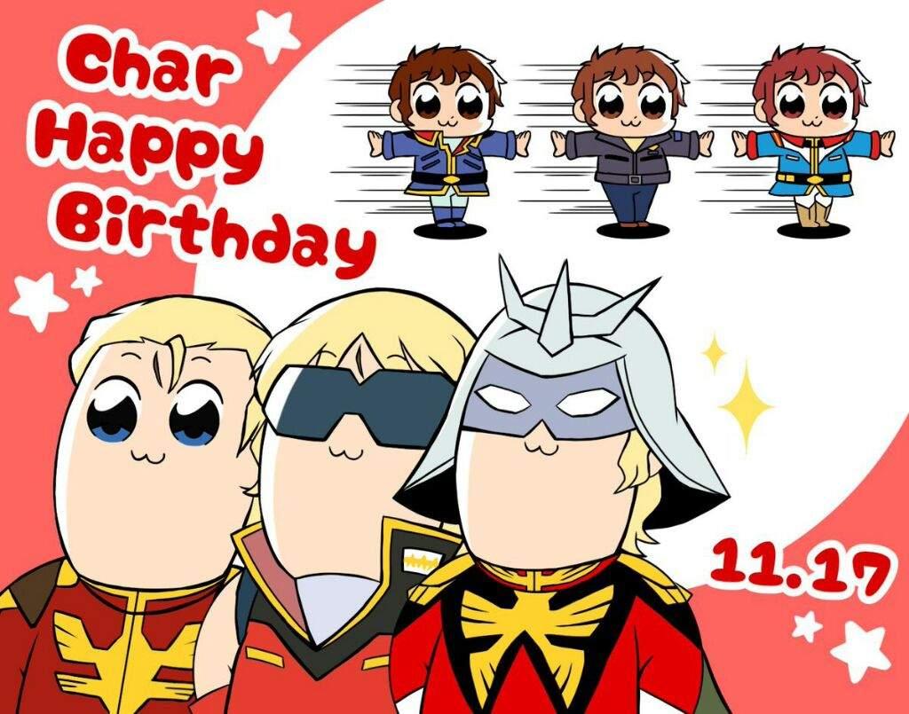 Happy Birthday Char Mobile Suit Gundam Anime Amino