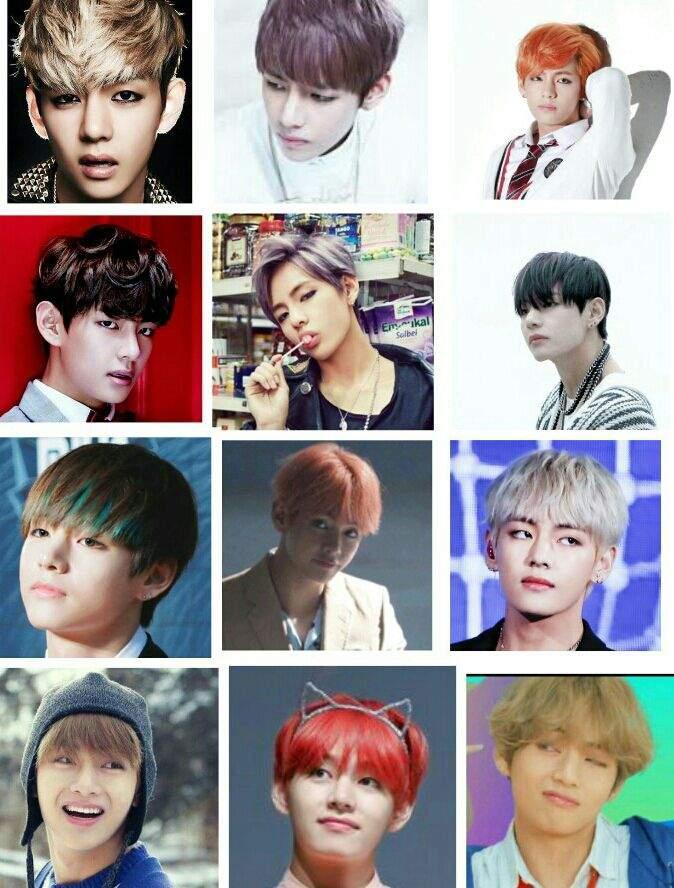 V fait partie des membres qui change le plus de coupe de cheveux Il est  vraiment trooop beau de par tous
