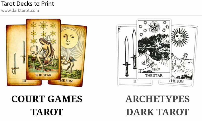 image about Printable Tarot Deck referred to as Printable and Electronic Tarot Deck (For inexperienced persons) The