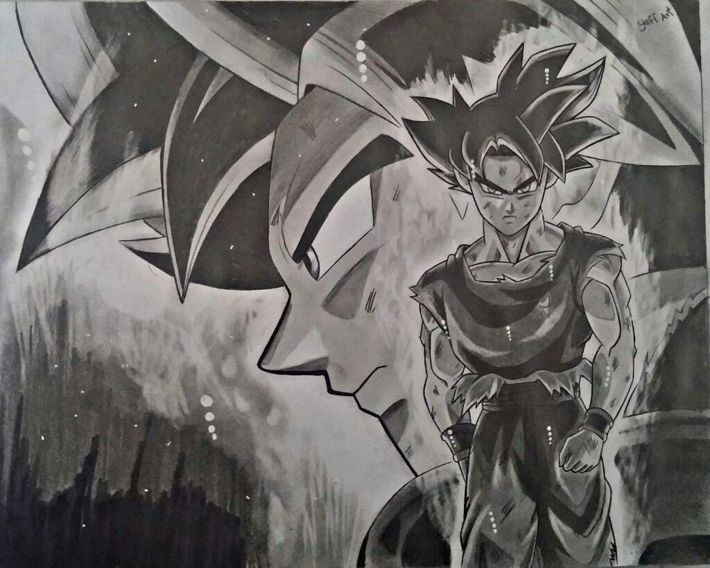 Dibujo De Goku Ultra Instinto: Goku Ultra Instinto #Mipropioart