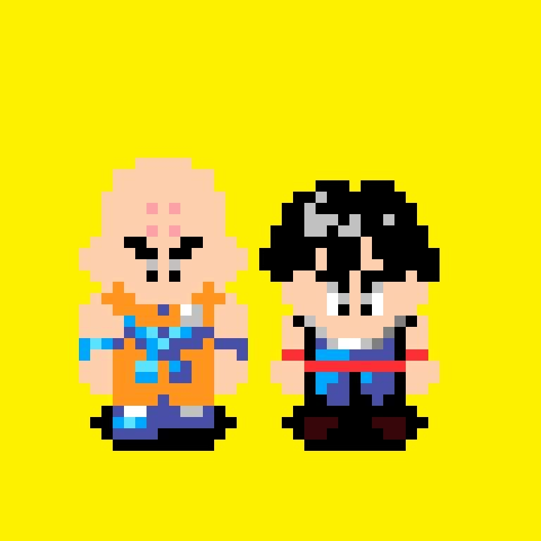Pixel Art Do Kuririn E Do Gohan Da Saga Freeza Dragon