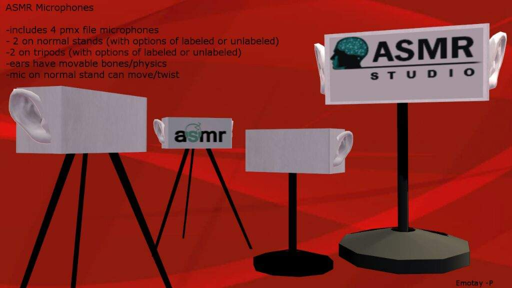 MMD ASMR Microphones DL | MMD Amino