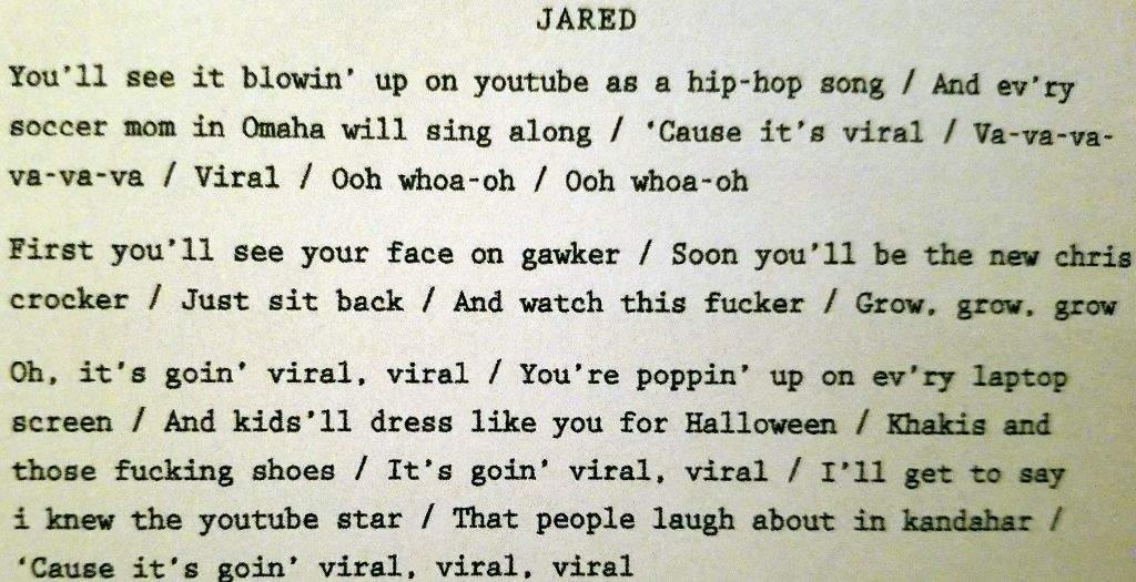 JARED'S CUT SONG - GOIN' VIRAL | Dear Evan Hansen Amino