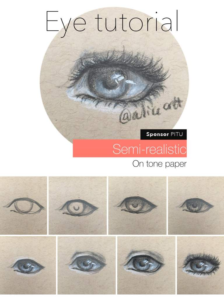 semi realistic eye tutorial how to draw amino