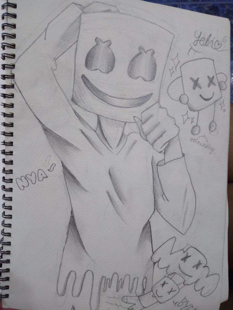 Marshmello pencil drawing