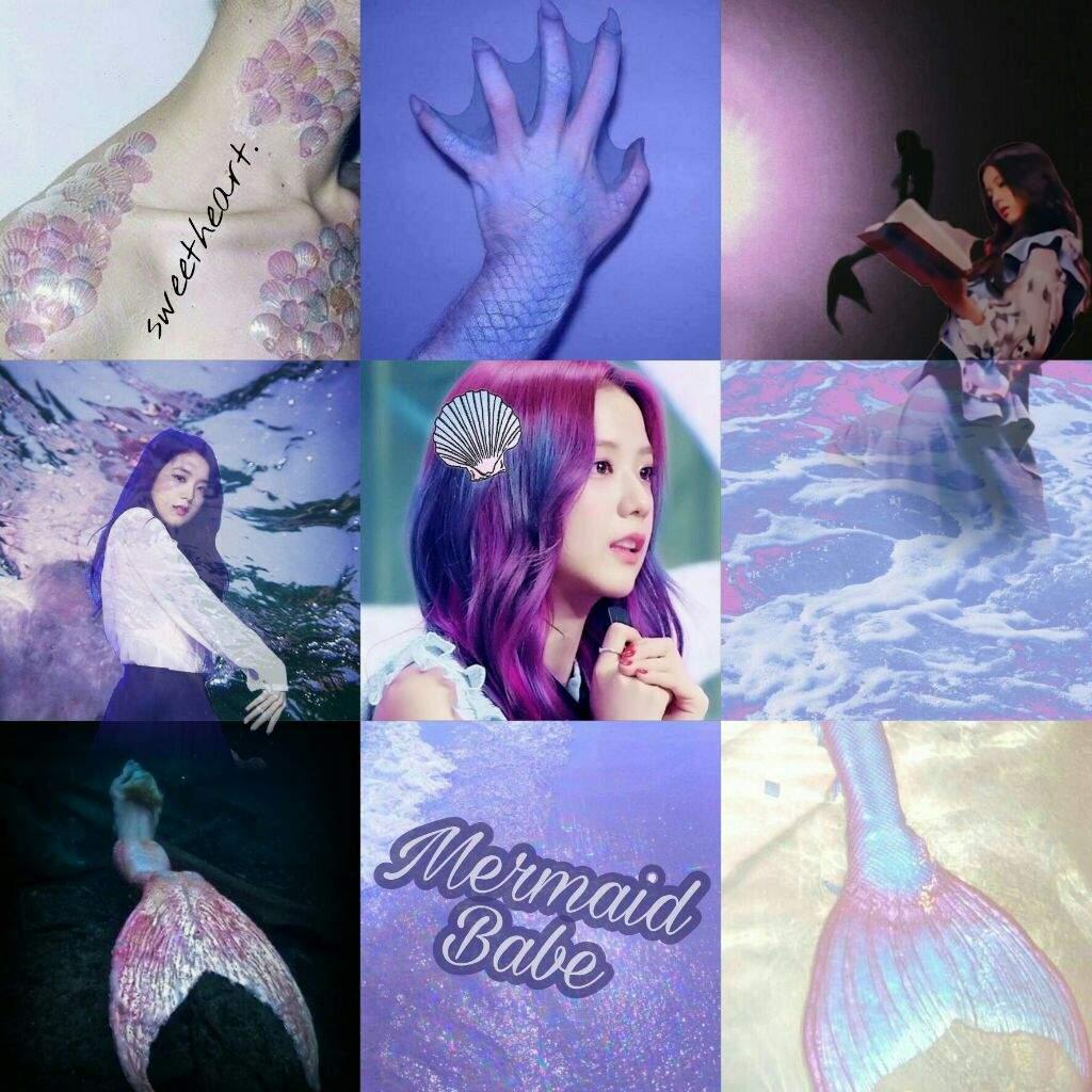 Pastel Holo Mermaid Aesthetic Kim Jisoo Amino