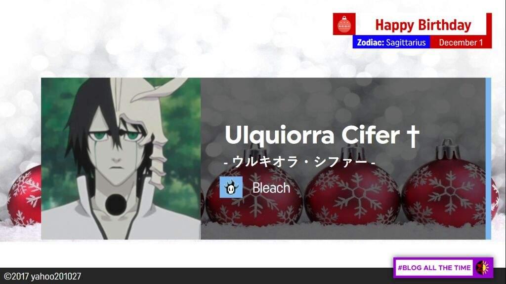 Happy Birthday Ulquiorra Cifer Bleach Amino