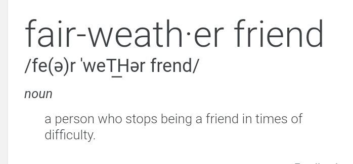 Fair Weather Friend | Anime Amino