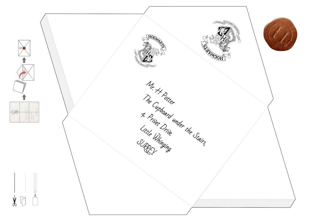It is an image of Satisfactory Harry Potter Envelope Template Printable